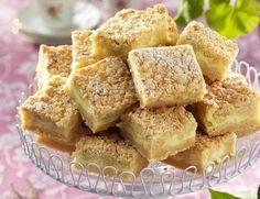 HV Baka i långpanna vaniljrutor Cocoa Recipes, Baking Recipes, Cookie Recipes, Bagan, Cheesecakes, Swedish Cookies, Scones, Grandma Cookies, Swedish Recipes