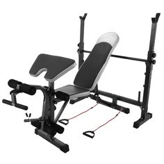 BestEquip Multi-station Weight Bench Adjustable Workout Bench with Leg Extension Incline Flat Decline Sit Up Fitness Equipment for Gym or Home Exercise. Constructed from heavy duty powder coated steel, durable waterproof and oil resistant PU material. The weight bench is equipped with length and width adjustment button and a non-slip card holder to increase the adjustable safety. Workout bench features thick seat cushion and back rest for added comfort and durability, comfortable foam...