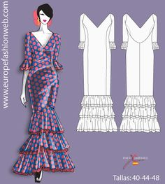 I think I'm going to make this for my next costume. Vestido de flamenca de lunares