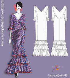 Vestido de flamenca de lunares