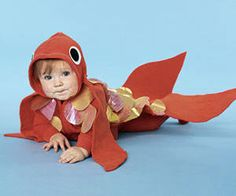 Goldfish Costume made with Fabri Tac Halloween Costumes Kids Homemade, Halloween Costume Patterns, Halloween Cans, Halloween Stuff, Halloween Ideas, Halloween Karaoke, Goldfish Costume, Costumes For Little Kids, Under The Sea Costumes