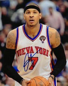 ... Jersey Nets - Zimbio AAA Sports Memorabilia LLC - Carmelo Anthony  Autographed New York Knicks 8x10 Photo - NUEVA YORK ... 5d1bf8ad4