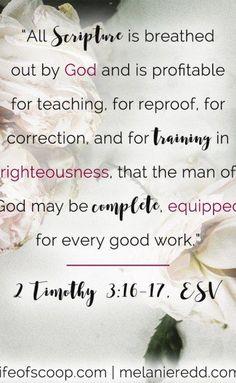 2 Timothy 3:16-17 ||
