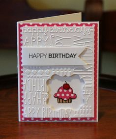 by moster - Cards and Paper Crafts at Splitcoaststampers - Happy New Year 2019 Homemade Birthday Cards, Girl Birthday Cards, Birthday Cards For Women, Bday Cards, Homemade Cards, Female Birthday Cards, Children Birthday Cards, Cricut Birthday Cards, Birthday Cake