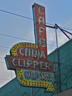 """China Clipper Cafe, Olympia, WA by Robby Virus, via Flickr...also known as """"The Crippler"""""""