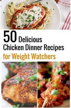50 Delicious Chicken Dinner Recipes for Weight Watchers | Recipe Diaries | Bloglovin'
