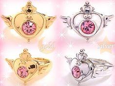 "sailor moon heart locket  | toys"" ""sailor moon 2013"" ""sailor moon jewelry"" ring gold silver heart ..."