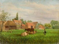 The Limes Farm, March, Cambridgeshire by Goodchild   Cambridge & County Folk Museum Date painted: 1890 Oil on canvas, 45.5 x 61 cm Collection: Cambridge & County Folk Museum