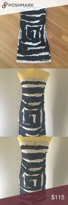 """Flash Sale⚡️Nicole Miller Silk Dress Sz. 6 Like new! Flawless.  Marked as a size 8, however runs small. Please see measurements.  Dress measures 30"""" from top to bottom.  Bust: 16"""". Waist: 14.5"""". Hips: 17"""".   Shell: 95% silk 5% spandex. Lining: 97% polyester 3% spandex. Dryclean only. Nicole Miller Dresses Mini"""