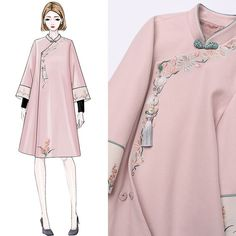 Improved Tang dress girl autumn and winter Girl retro set Republic wind Chinese style tea suit Woolen Han clothing two piece set Asian Fashion, Look Fashion, Womens Fashion, Mode Kpop, Dress Sketches, Chinese Clothing, Fashion Design Sketches, Traditional Outfits, Cute Dresses