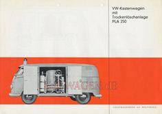 VW - 1961 - VW Kastenwagen mit Trockenlöscher  PLA 250 - 152 686 - [9266]-1