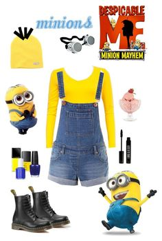 Minions by lj-case on Polyvore featuring polyvore, fashion, style, Dr. Martens, Neff, Lord & Berry, OPI, Illamasqua, Essie, NARS Cosmetics, Bormioli Rocco and clothing