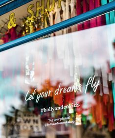 Colourful window to celebrate kids and their art at the Holly & Co work/shop Immersive Experience, Artists For Kids, Support Small Business, Window Stickers, Business Advice, Your Photos, Dreaming Of You, Encouragement, Workshop