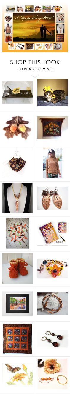 """""""I Keep Forgettin': Handmade & Vintage Gift Ideas"""" by paulinemcewen on Polyvore featuring rustic, vintage and country"""