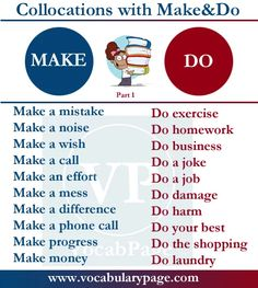 Collocations with Make&Do