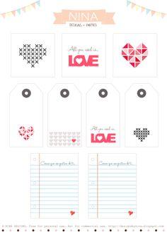 Descargable Gratuito San Valentín / Free Valentine's Day Printables