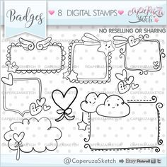 Planner Stickers, Silhouette Curio Projects, Birthday Clipart, Thought Bubbles, Graphic Organizers, Digital Stamps, Craft Items, Handmade Crafts, Gift Tags
