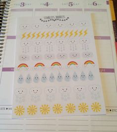 Weather Planner Sticker Kit. Perfect for your by starletsdoodles