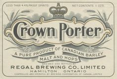 Crown Porter by Thomas Fisher Rare Book Library, via Flickr