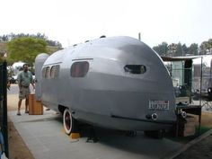 Vintage 1935 Bowlus Road Chief trailer