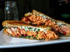 two foodies & a pup: Grilled Salmon Cream Cheese Sandwich