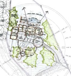 Site and Spatial Relationships - The Architectural Practice Site Analysis Architecture, Architecture Site Plan, Architecture Concept Diagram, Watercolor Architecture, Architecture Drawings, Landscape Architecture, Conceptual Sketches, Conceptual Design, Urban Design Diagram