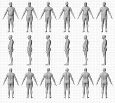 BMI is a commonly used metric that's supposed to tell you if you're at a healthy weight or not. As this illustration created from scans of real people shows, however, BMI can be very misleading. Bmi, Weight Charts, Heath And Fitness, Male Fitness, Physical Fitness, Fitness Tips, Ideal Body, Nutrition, Loving Your Body