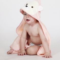 Give a functional baby shower gift like this animal face baby towel.
