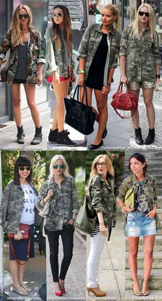 Blue is in Fashion this Year: In Fashion: Camouflage Jacket