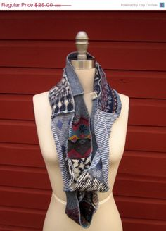 upcycled scarf