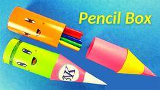How to make a paper pencil box | DIY paper pencil box idea / Origami box tutorial
