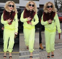 "Rita Ora visits Flamin Eight Tattoo Studio in a red neck warmer and gets a small tattoo on her finger saying ""Hope"" in London on February 15, 2013"