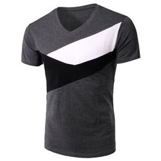 Slimming Splicing V-Neck Short Sleeves T-Shirt For Men ($14) ❤ liked on Polyvore featuring men's fashion, men's clothing, men's shirts, men's t-shirts, mens short sleeve t shirts, mens v neck t shirts, mens vneck shirts, mens v neck shirts and mens slim fit short sleeve shirts