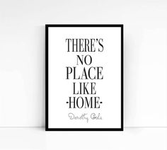 There's no place like home  Wizard of Oz quote by mixarthouse