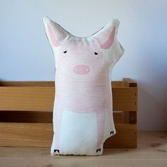 Handmade Pig Pillow by Gingiber on Etsy, $32.00
