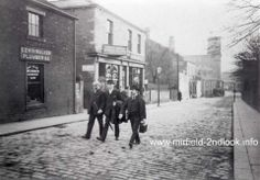 Mirfield Station Road Source - The Mirfield History Archive. Yorkshire England, West Yorkshire, Huddersfield Yorkshire, Photo Memories, Local History, Long Time Ago, Old Photos, Archive, Street View
