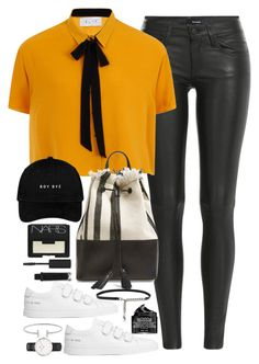 """Untitled #2064"" by roxy-camarena on Polyvore featuring The Kooples, Elvi, Loeffler Randall, Common Projects, Yves Saint Laurent, Humble Chic, Daniel Wellington, NARS Cosmetics, Peter Thomas Roth and Topshop"
