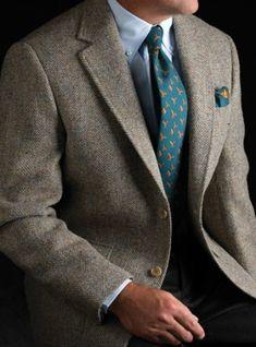Ben Silver Harris Tweed Multi Color Broken Bone Jacket