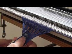 machine knitting - partial knitting and increases - YouTube