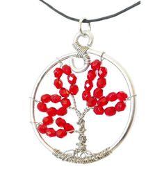 Red Fire-Polished Czech Preciosa Tree of by SweetfireCreations Tree Of Life Necklace, Make You Smile, Polish, Fire, Etsy Shop, Make It Yourself, Personalized Items, Trending Outfits, Unique Jewelry