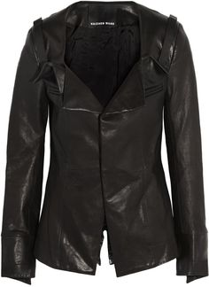 Pin for Later: Everything You Need to Know About The Outnet's Epic Birthday Sale Haizhen Wang Black Leather Jacket Haizhen Wang Leather Jacket (£650)