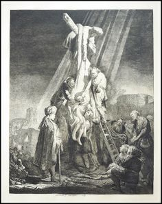 Armand Durand after Rembrandt (DUTCH, 1606-1669) Descent from the Cross : Lot 131-6066 #durand #rembrandt