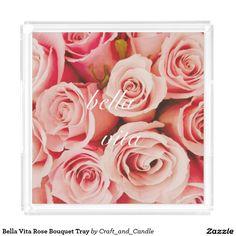 Bella Vita Rose Bouquet Tray