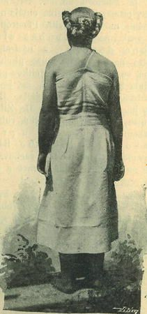 Casopis cesky lid VIII.  Děvče horňácké v rubáči, slavnostně zapletené