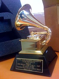The Grammy awards are named for the trophy: a small, gilded gramophone statuette. Awarded for Outstanding achievements in the music industry Presented by National Academy of Recording Arts and Sciences Country United States First awarded 1959 Los Grammy, Grammy Award, Grammy Nominations, Grammys 2013, Placido Domingo, Stars News, Matchbox Twenty, Record Art, Star Wars