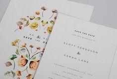 Lisa Hedge - minimal type floral invites