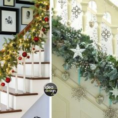 Decorate for Christmas stairs