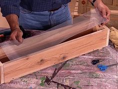 How to Build a Wooden Planter Box : How-To : DIY Network Add style to your deck by building planter boxes to sit on top of the railing. This is a great project for a beginner woodworker. Railing Planter Boxes, Wooden Planter Boxes Diy, Wooden Flower Boxes, Diy Flower Boxes, Planter Box Plans, Window Planters, Wood Planters, Garden Planters, Wooden Boxes