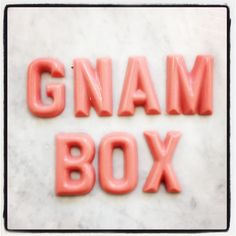 GNAM BOX CHOCOLATE LETTERS by Marangoni Cioccolato