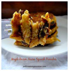 Maple Raisin Acorn Squash Pancakes #paleo #grainfree #glutenfree #nutfree